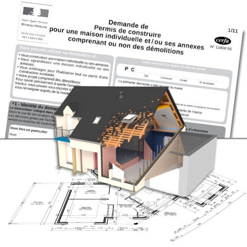 Plan 3D pour l\'architecture